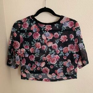 Light, airy rose blouse